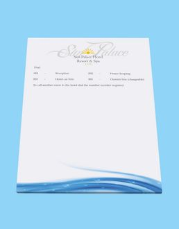 A5 guest room note pad